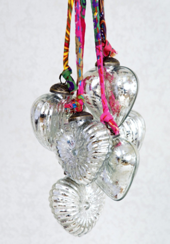 Recycled Glass Christmas Ornaments