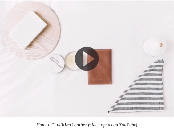 How to condition your leather handbag