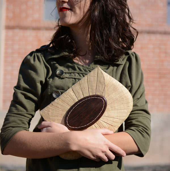 Fair Trade Raffia Clutch