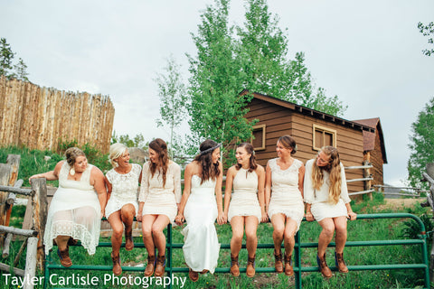 bridal party custom boots