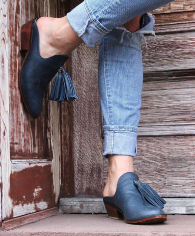 handcrafted mule slip on shoe
