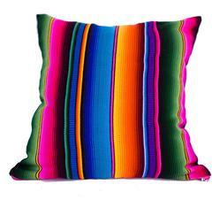 striped baja pillow