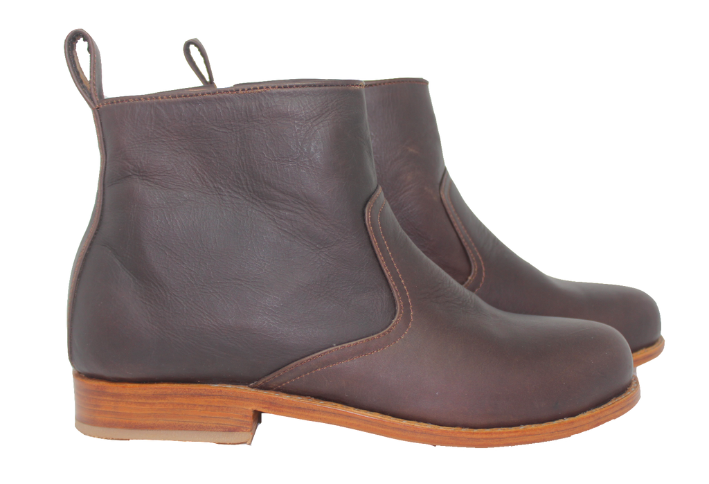 Leather Botine