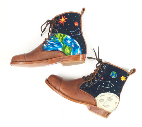 Hand-embroidered Space Boots