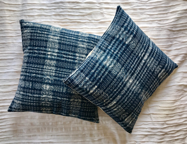 Ikat Denim Pillow