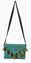 Load image into Gallery viewer, Turquoise Metallic Clutch