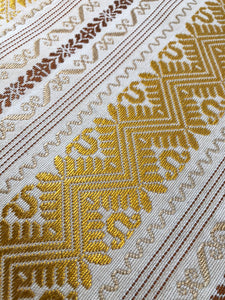 Gold + White Table Runner