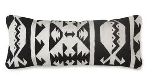 Kilim Lumbar Pillow, Black & White