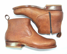 Load image into Gallery viewer, All Leather - Dark Brown Botine