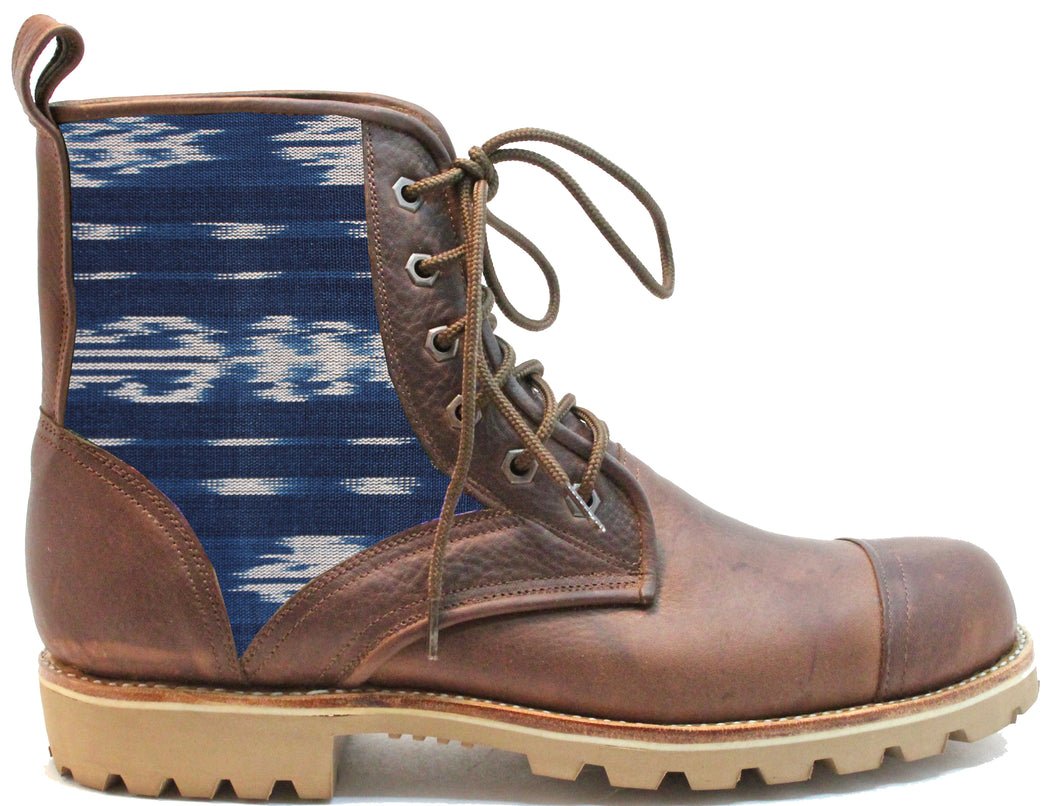 Men's Blue Ikat Summit Boot
