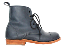 Load image into Gallery viewer, Blue Leather Peace Boot