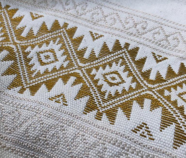 White + Gold Table Runner