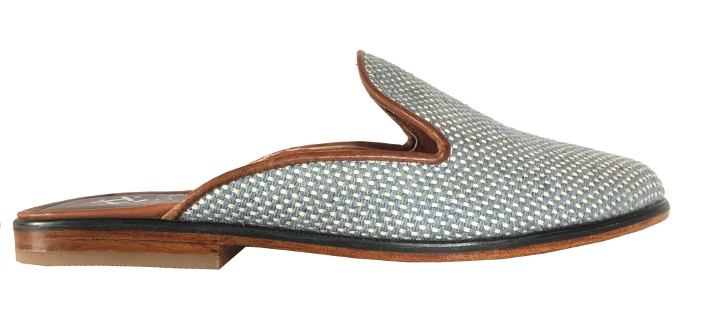 New Denim Woven Amor Slide