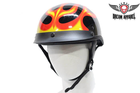 DOT Approved Motorcycle Helmet W/ Flames Graphic