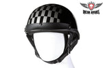 DOT Approved Motorcycle Helmet W/ Race Flag Graphic