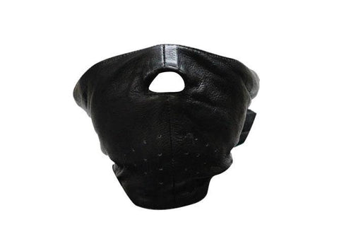 Biker Leather Face Mask - Black