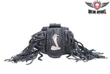 Cobra Folding Pouch With Braid & Fringe