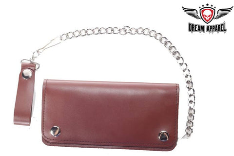 Biker Bi Fold Motorcycle Chain Wallet