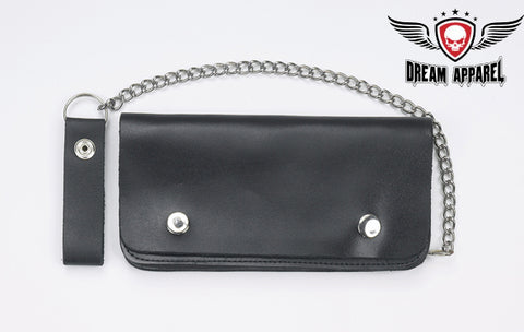 Brown Biker Bifold Chain Wallet