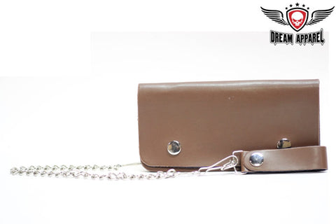 Mens Brown Biker Wallet