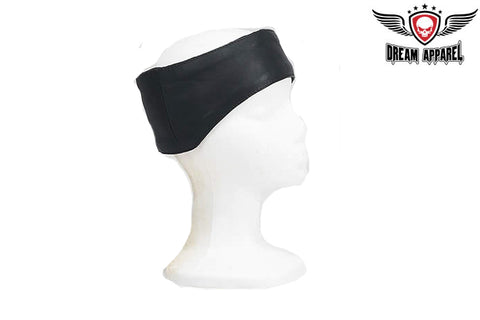 Leather Band With Velcro Strap That Covers Forehead & Ears