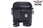 Womens PVC Buffalo Nickel Bag