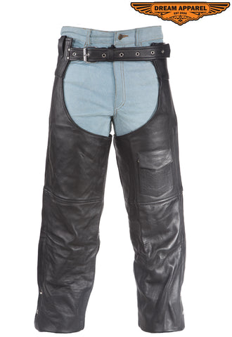 Naked Cowhide Leather Chaps