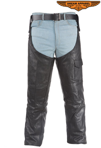 Leather Chaps / Pants With Side Zipper