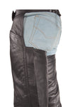 Plain Biker  Leather Chaps