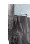 Leather Chaps With Fringe & Braid