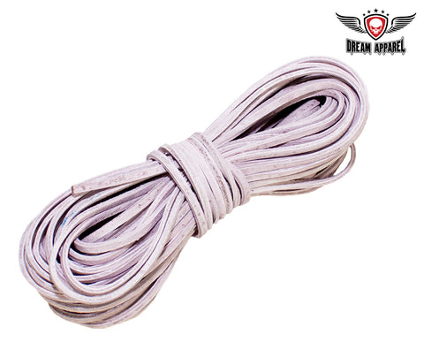 50 FT Leather Laces - Pink