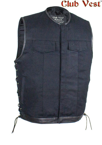 Men's Denim Gun Pocket W/ Side Laces By Club Vest