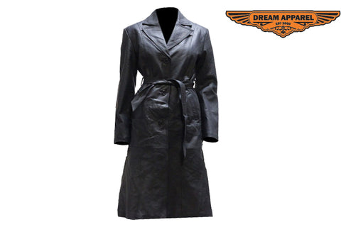 Womens Long Coat With Z/O Lining & Belt