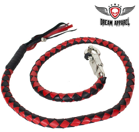 "50"" Inch Long Black And Red Get Back Whip"