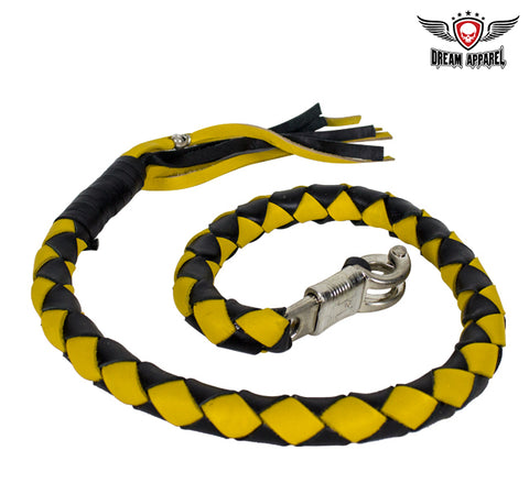 "3"" Black & Yellow Get Back Whip for Motorcycles"