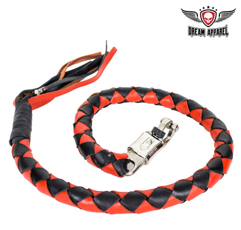 "3"" Black & Orange Get Back Whip for Motorcycles"