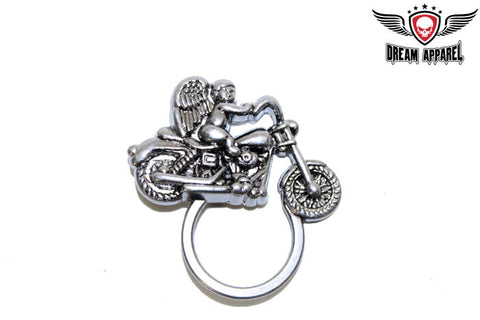 Angel On Motorcycle Sunglass Holder