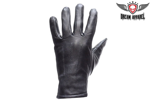 Women Full Finger Leather Gloves