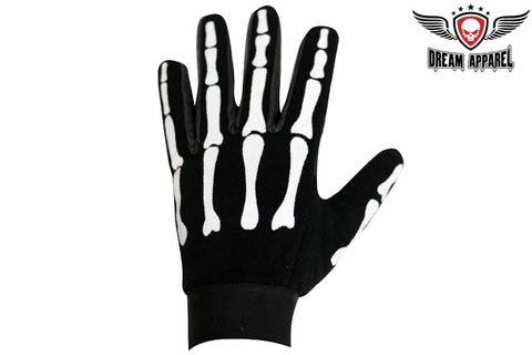 Black Mechanic Skeleton Gloves