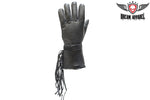 All Leather Motorcycle Gauntlet Glove