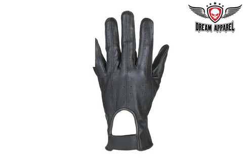 Leather Full Finger Gloves With Velcro & Airvents