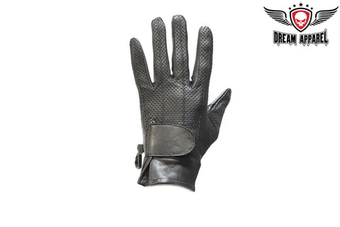 Full FInger Motorcycle Gloves With Velcro & No Lining