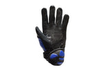 Mens Padded Blue Racing Gloves