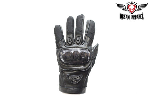 Motorcycle Gloves With Velcro Strap & Tight Grip On Palm