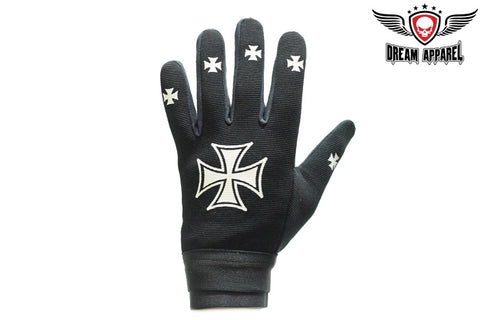 Mesh Textile Mechanic's Motorcycle Gloves