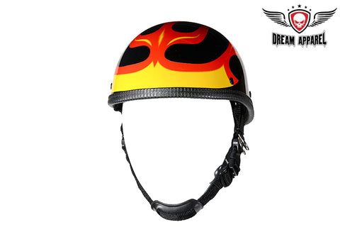 Shiny Eagle Style Novelty Motorcycle Helmet W/ Flame Graphic