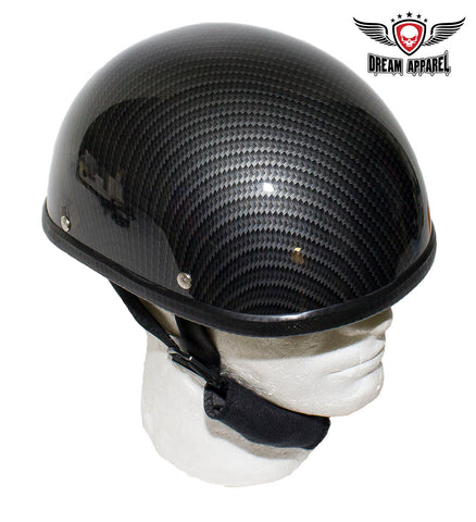 Black Carbon Fiber Novelty Helmet