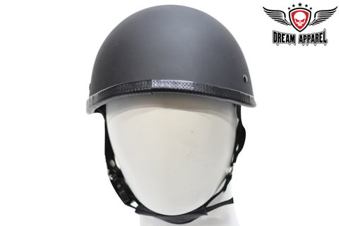 Smokey Novelty Flat Black Motorcycle Helmet With Snaps For Visor