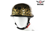 Gold Skull Graveyard German Novelty Helmet