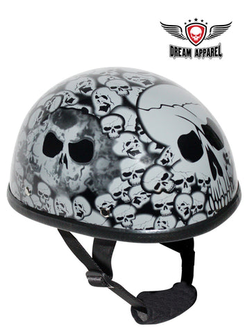 Gray Boneyard Eagle Novelty Helmet with Skulls